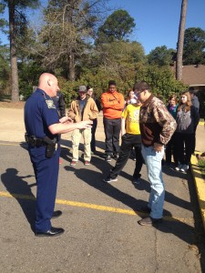 Trooper Brett Davis discusses the severity of a DWI and underage intoxication to students.